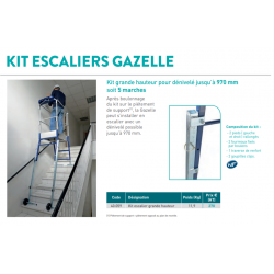 Kit escaliers GAZELLE